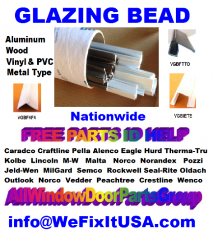 Downloadable Free 2018 Master Glazing Bead Parts [PDF] Identification Guide Online.