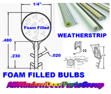 FREE PARTS ID and HELP ONLINE -- foam filled weatherstrip of all shapes, sizes and brands.