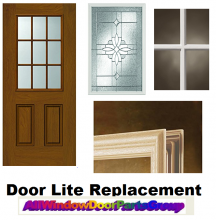 Why replace the entire door due to broken or dated looking door glass insert parts?